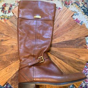 Tall brown Coach boots
